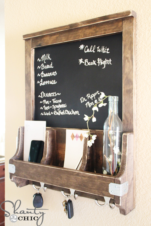 DIY Chalkboard and Key Hooks - Shanty 2 Chic