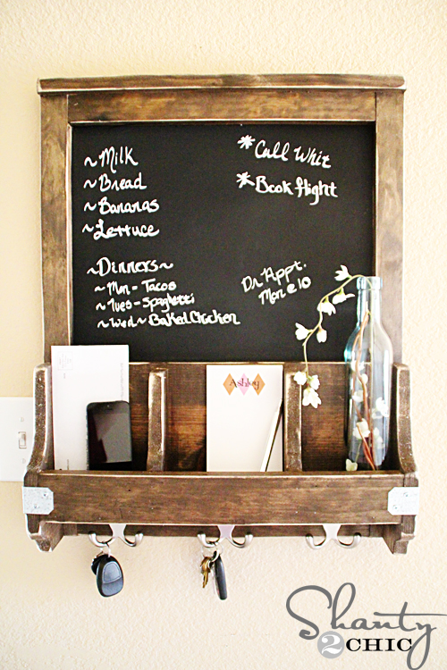 Diy Chalkboard And Key Hooks Shanty 2 Chic