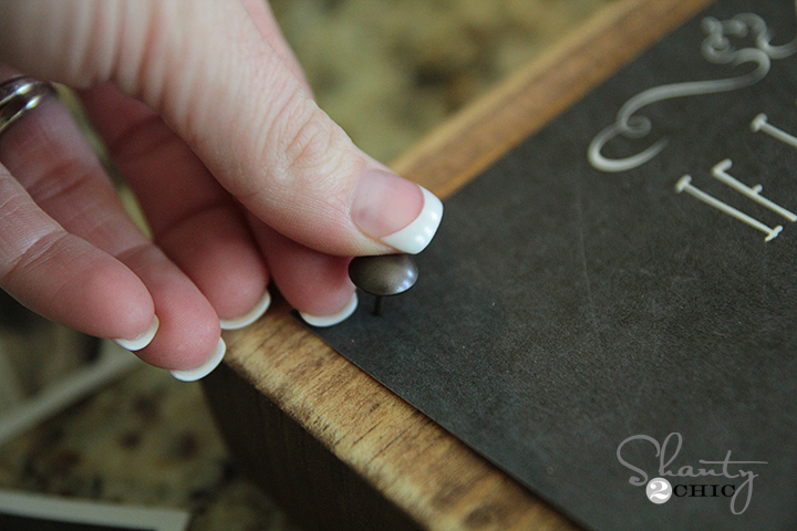 How to attach nail heads
