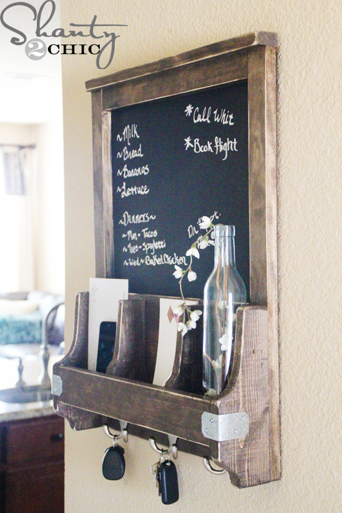 Excellent DIY Chalkboard and Key Hooks - Shanty 2 Chic RE62