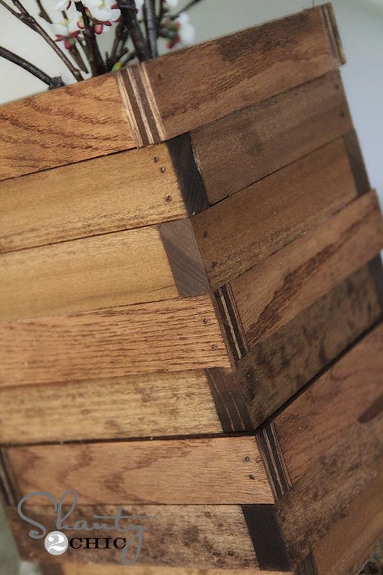 scrap wood vase shanty 2 chic. Black Bedroom Furniture Sets. Home Design Ideas