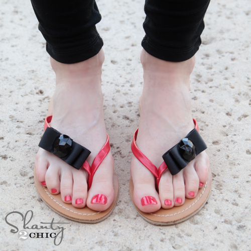 Shoe Clips on Flip Flops