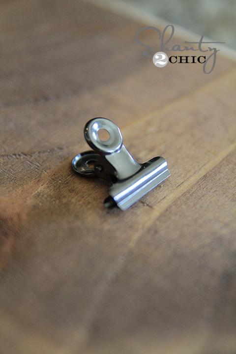Super Glue clip to wood