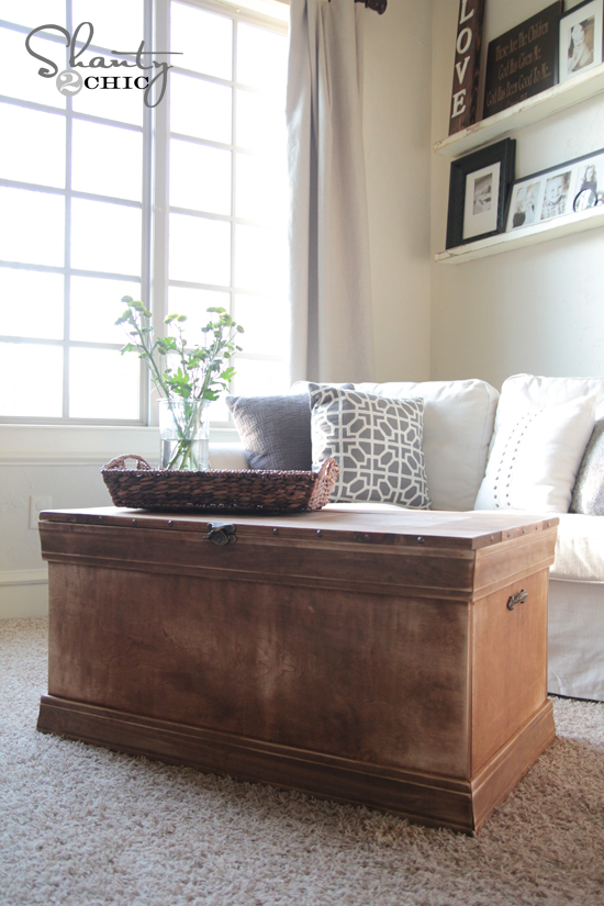 Pottery Barn Inspired Chest Coffee Table Shanty 2 Chic