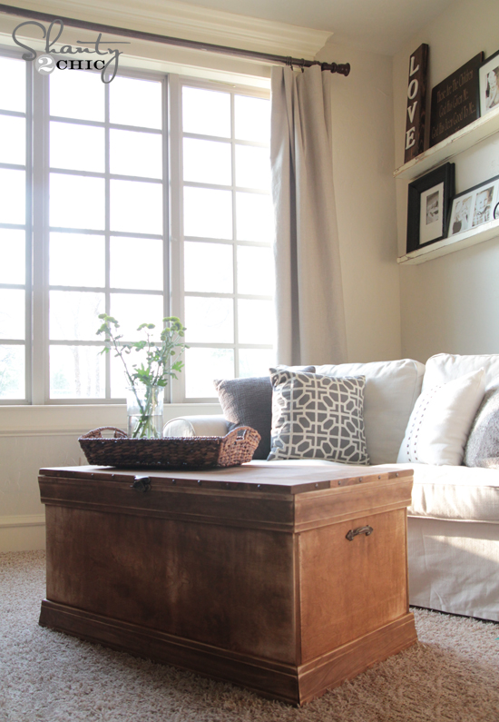 Pottery Barn Inspired Chest Coffee Table Shanty Chic - Pottery barn chest coffee table