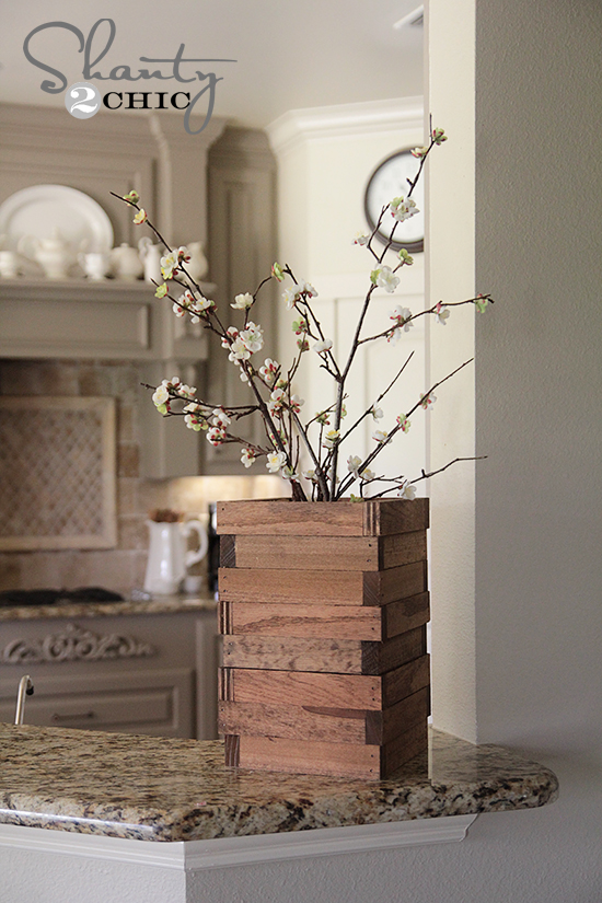 Scrap wood vase shanty 2 chic - How to build a desk ideas you can easily put into practice ...