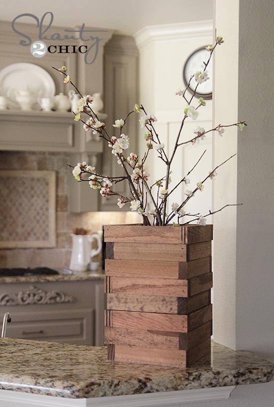 Wood Vase from Scraps