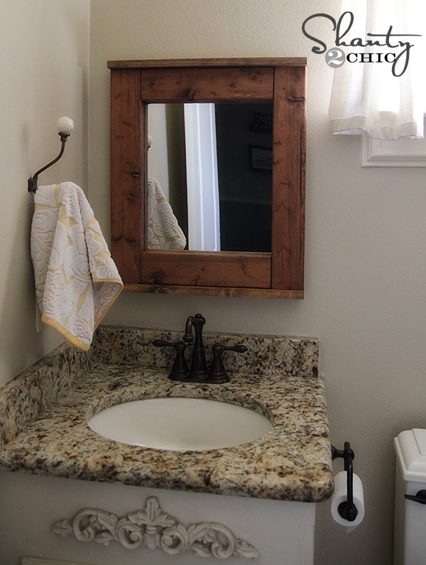 Bathroom Mirror Diy wood mirror - diy - shanty 2 chic