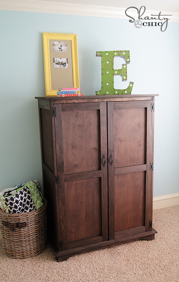 Pottery Barn Inspired Armoire Free Plans Shanty 2 Chic