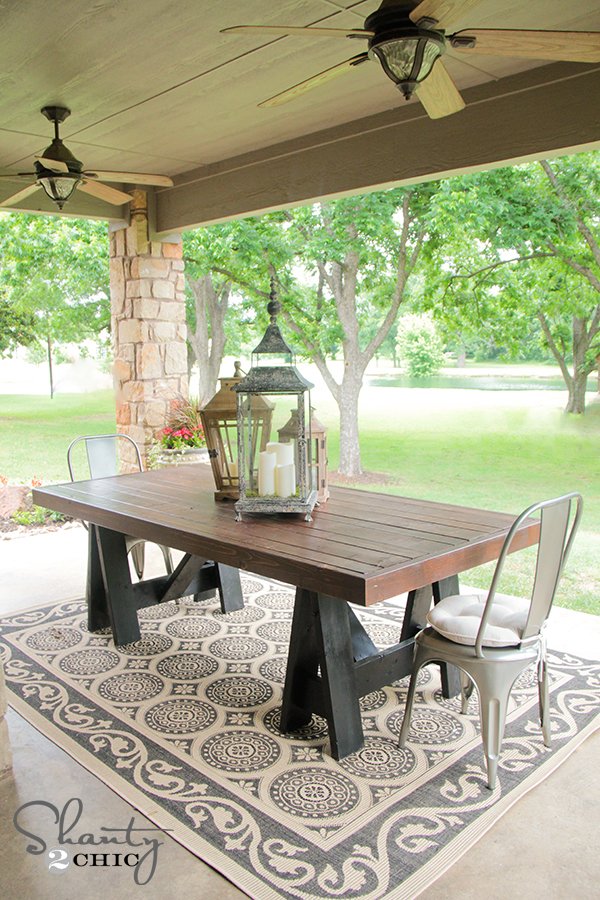 DIY Table Inspired by Pottery Barn