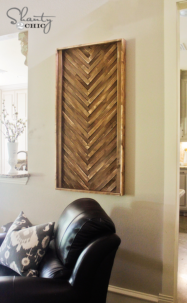 Wood Wall Art Diy diy wall art from wood shims! - shanty 2 chic