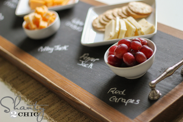 DIY_Chalkboard_Tray & How to Make a Chalkboard ~ Serving Tray - Shanty 2 Chic