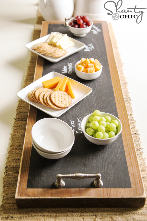 How To Make A Chalkboard Serving Tray Shanty 2 Chic