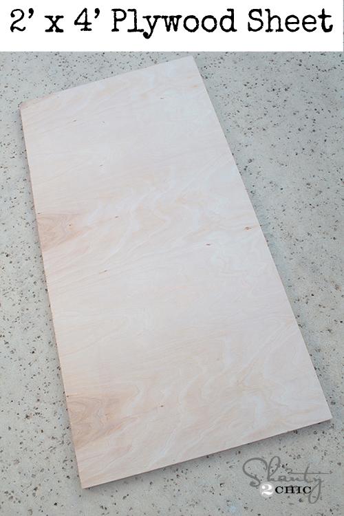 2 x 4 plywood