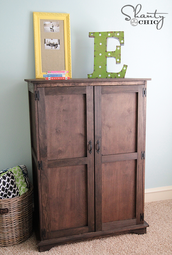 Pottery Barn Inspired Armoire Free Plans - Shanty 2 Chic