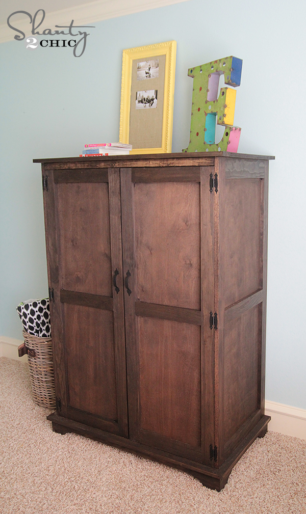 Pottery Barn Inspired Armoire - Drawers - Shanty 2 Chic