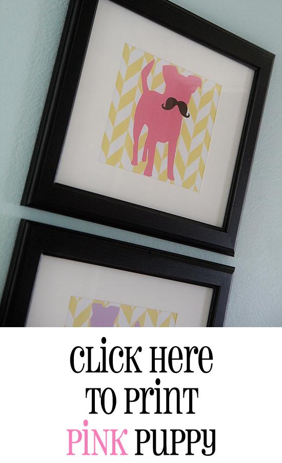 Print Pink Puppy