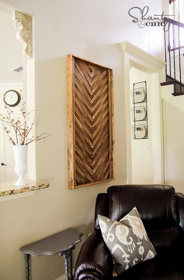 Diy Wall Art From Wood Shims Shanty 2 Chic