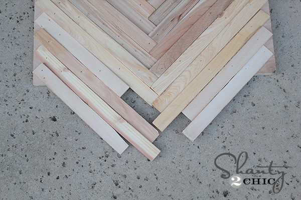 Wall Art from wood shims