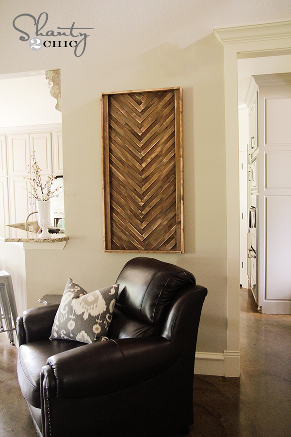 Wooden Wall Decor Diy : Diy wall art from wood shims shanty chic