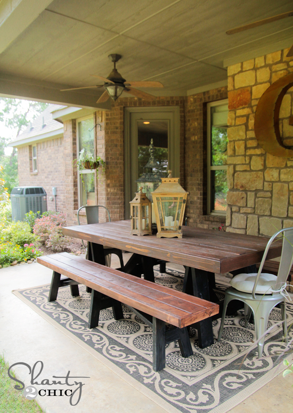 DIY Outdoor Dining Table Back Patio