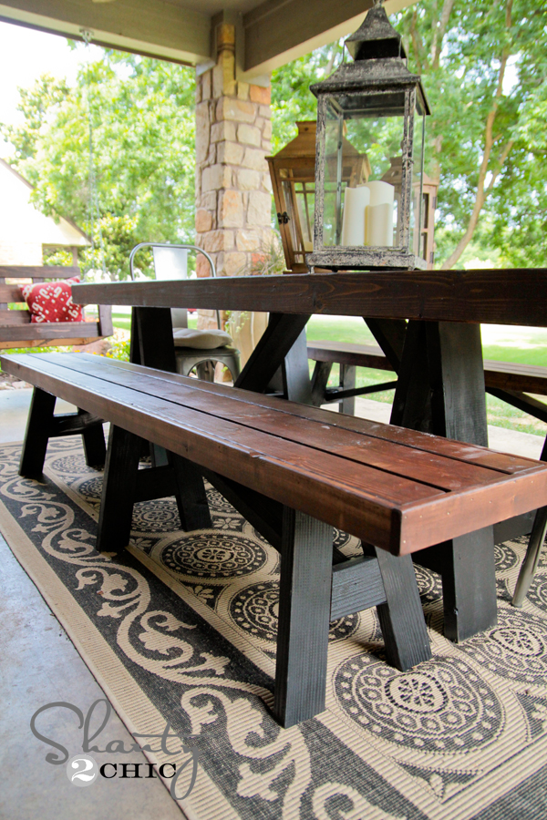 DIY Bench for Dining Table - Shanty 2 Chic