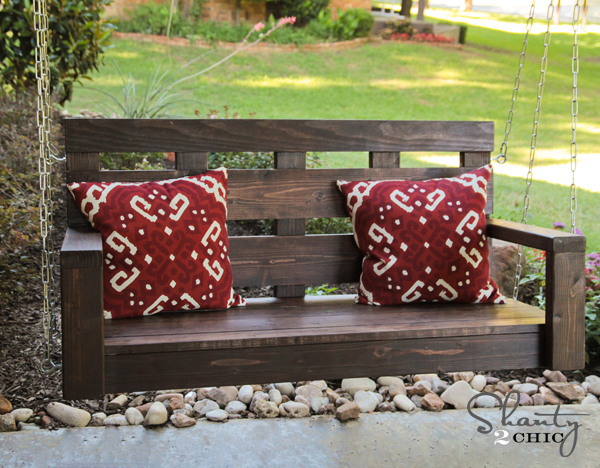 homemade porch swing plans