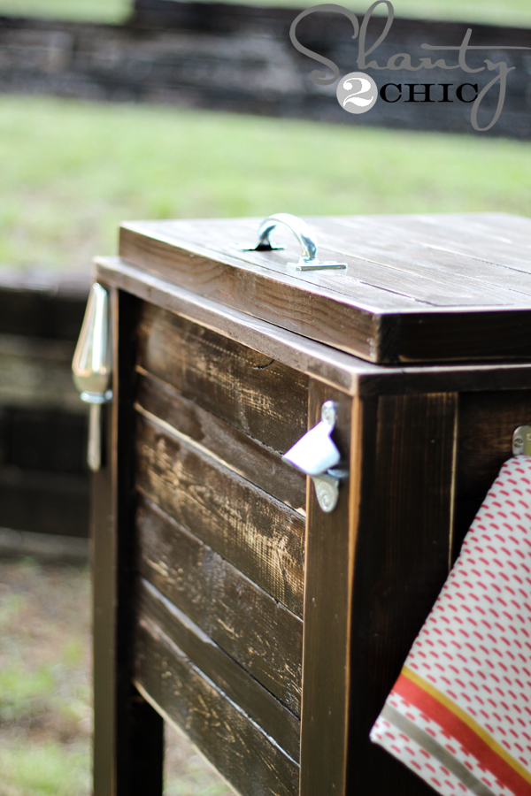 diy wood ice chest