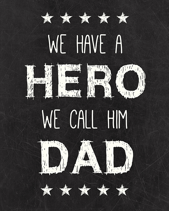 Dad Hero Printable