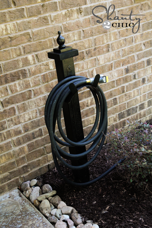 Hose Holder for the Garden DIY Shanty 2 Chic