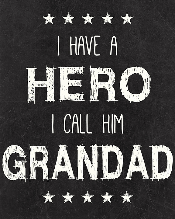 Grandad Hero Printable I