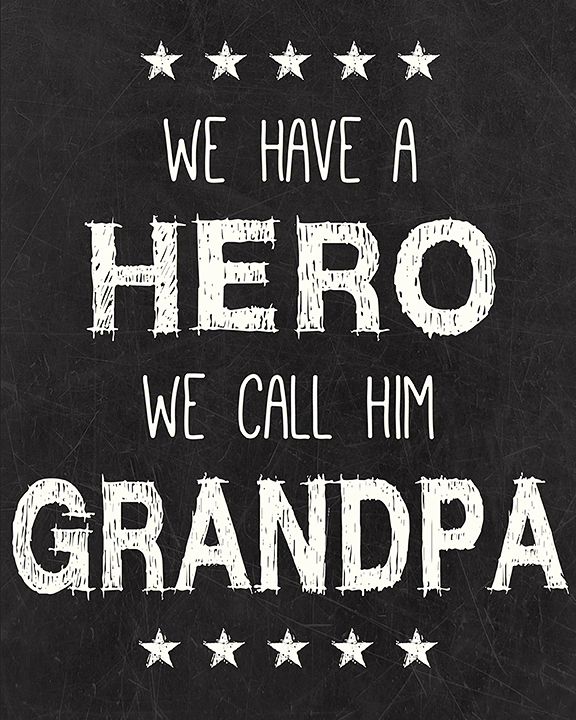 Grandpa Hero Free Printable