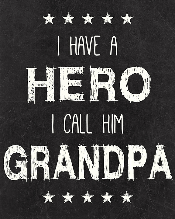 Grandpa Hero Printable