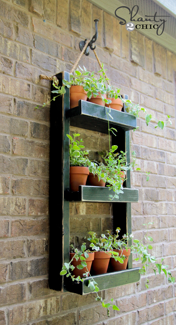 Wood Planter For The Wall Shanty 2 Chic