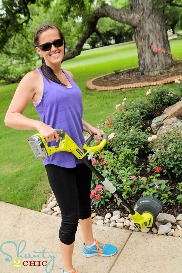 Ryobi 18v hybrid string trimmer review shanty 2 chic for Shanty 2 chic porch swing