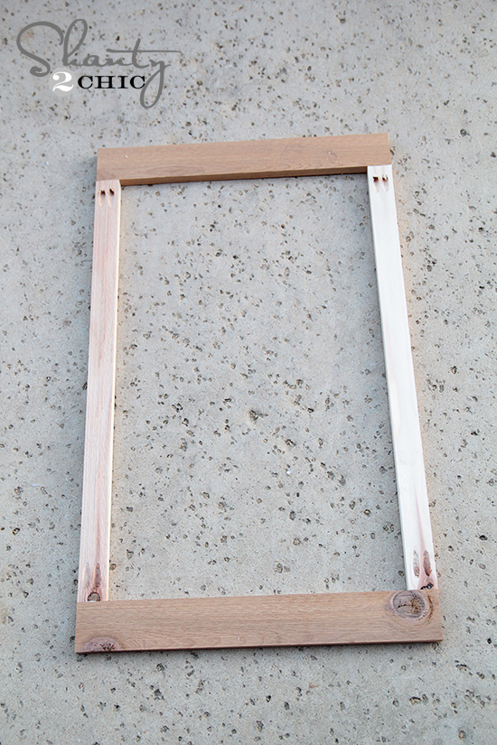 Small Frame of Cedar Planter