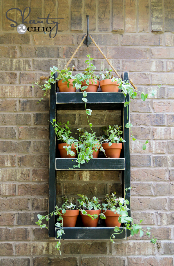 Hanging Wall Planter wood planter for the wall - shanty 2 chic