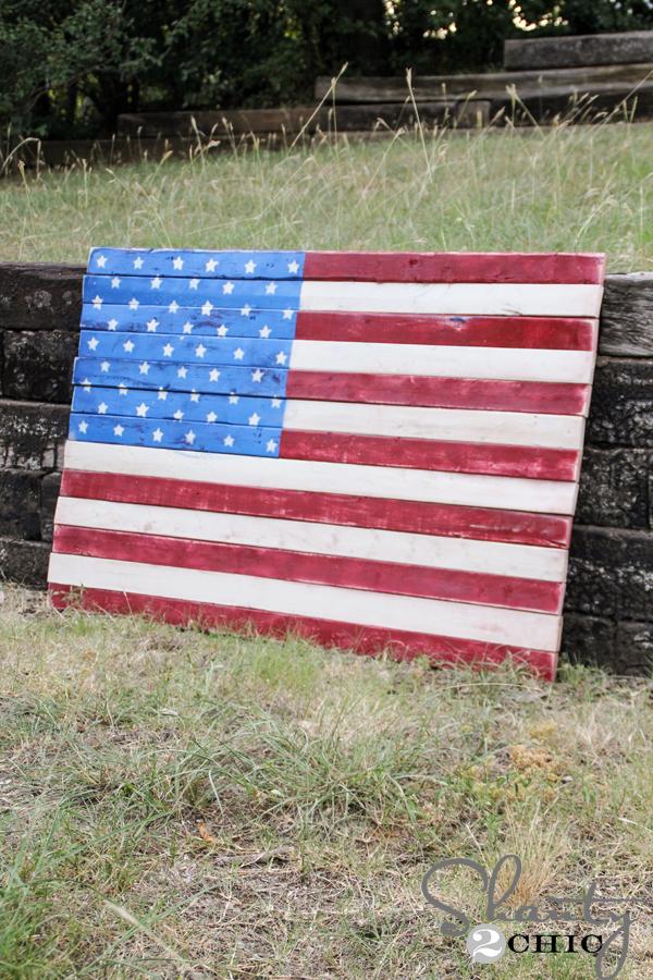 Wood Pallet Art American Flag Shanty 2 Chic