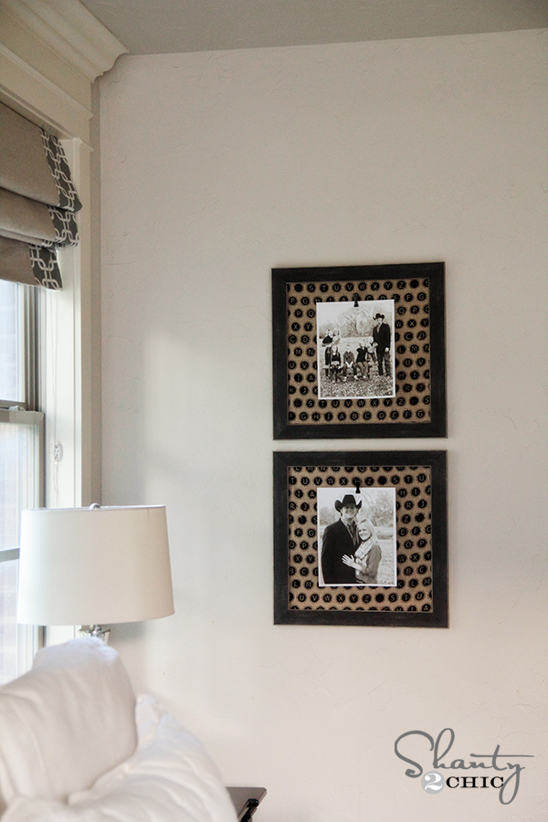 Burlap Photo Frames with Clips