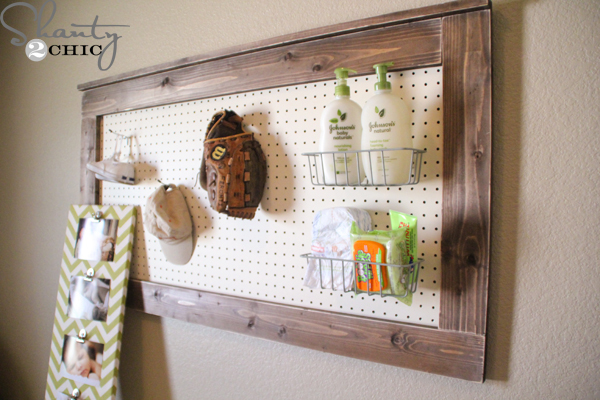DIY Wall Decor - Pegboard - Shanty 2 Chic