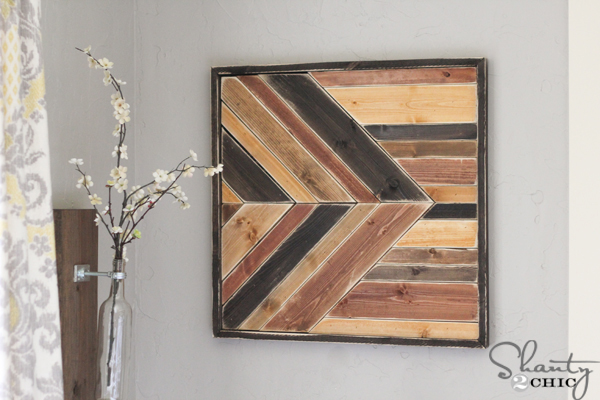 Diy wall art pallet design shanty 2 chic for Wood plank art ideas