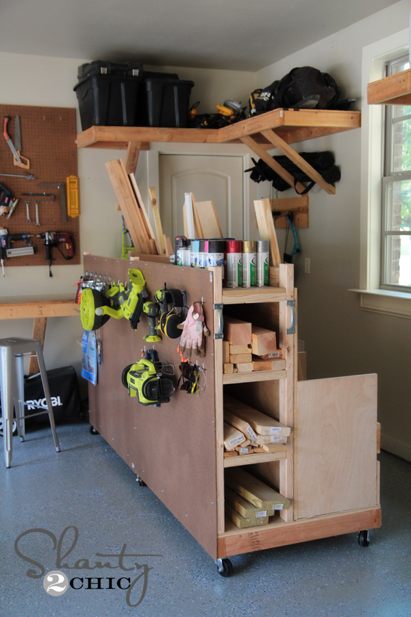 Diy Garage Lumber Rack