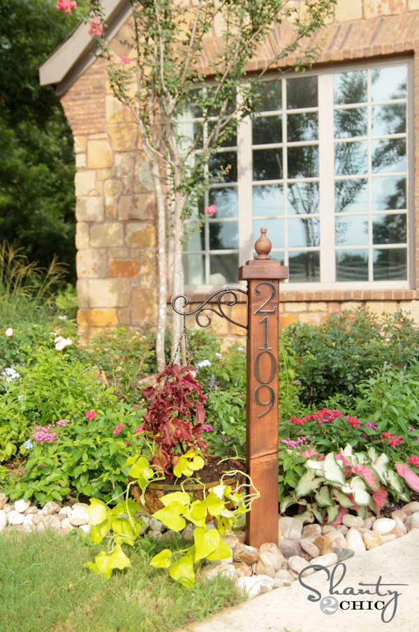 House Number Post Planter