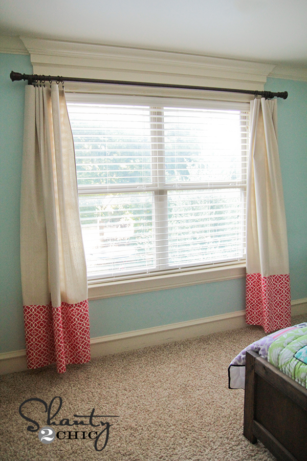 Curtains no sew baby shanty 2 chic How to make a valance without sewing