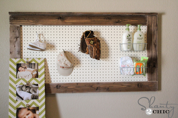 Wall Decoration Plastic Sheets : Diy wall decor pegboard shanty chic
