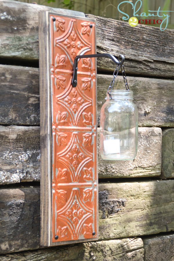 Pinterest Diy Wall Sconces : DIY Wall Sconce - Shanty 2 Chic
