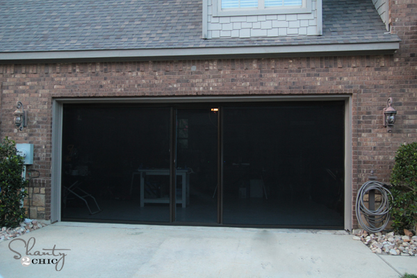Garage Door Screens : Check out my new garage screen so awesome shanty chic