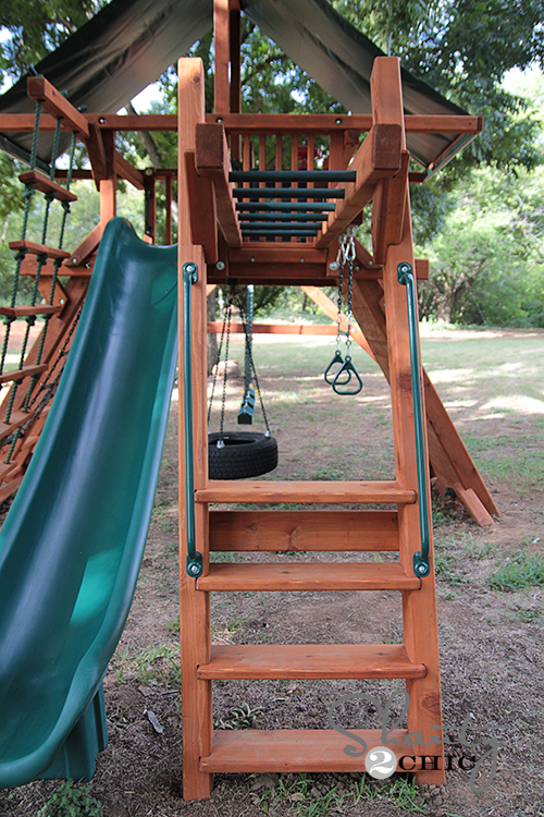 Wood Swing Set Monkey Bars