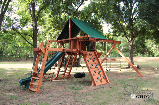Wood Swing Set