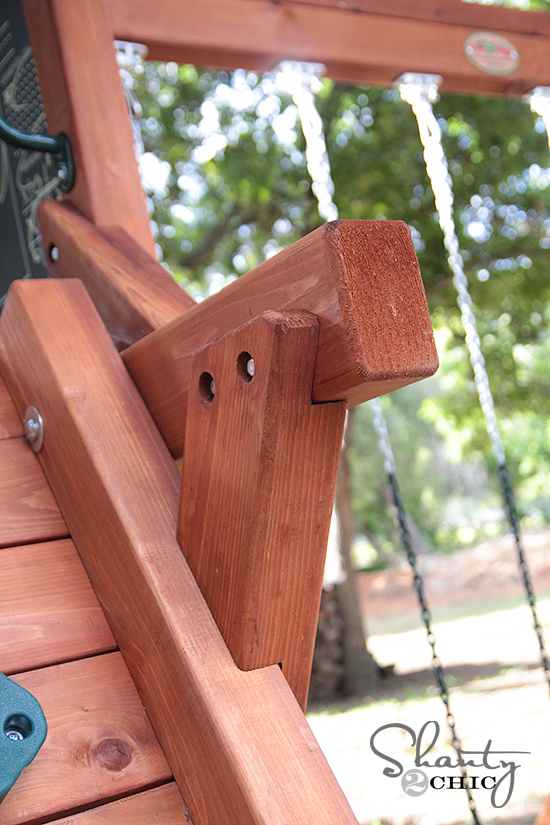 Come Check Out My New Wood Swing Set Shanty 2 Chic